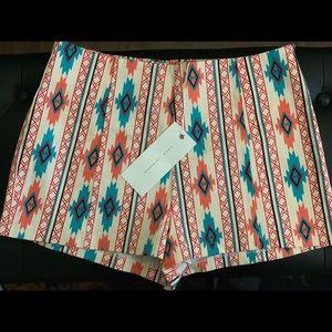NWT Lush Bohemian/Aztec Mid Rise Shorts